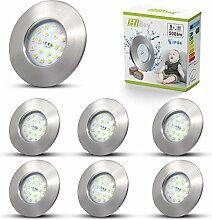 6 x LED Einbaustrahler IP44 Bad Spot