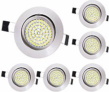6 x Lu-Mi LED Einbaustrahler Flach 230V -