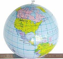 6x Mallon® 40cm aufblasbar World Globe Teach Bildung Geographie Spielzeug Karte Ballon Beach Ball