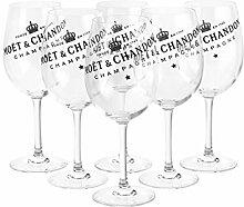 6 x Moët & Chandon Champagner Glas Gläser Set