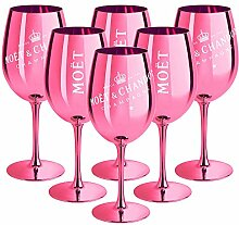 6 x Moet & Chandon Champagnerglas Pink (Limited