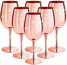 6 x Moet & Chandon Champagnerglas Rose-Gold