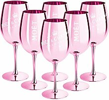 6 x Moet & Chandon Champagnerglas Rose (Limited