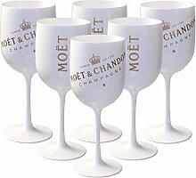 6 x Moët & Chandon Ice Impérial Acryl-Glas