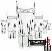 6 x Ramazzotti Glas / Gläser Schnaps Italien