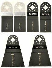 6 X Saxton Klingen Mischung (a) Fein Multimaster
