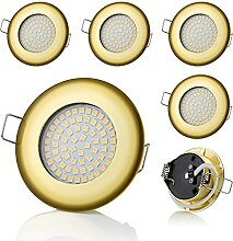 6 x SW-68N Sweet led® Flache LED Einbaustrahler
