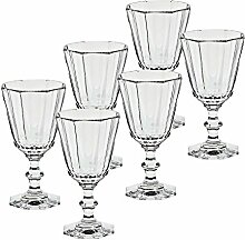 "6 x Weinglas, Weinkelch, Römer ""ROYAL"" 100ml, transparent, Bleikristall, 14 cm, moderner Style (GERMAN CRYSTAL powered by CRISTALICA)"