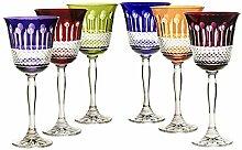 6 X Weinglas Weinkelch Römer Glas Coloradio 220