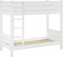 60.16-09 W T100 Etagenbett für Erwachsene waschweiß 90x200 cm, Nische 100cm, teilbar