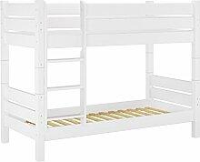 60.16-10 W T80 Etagenbett für Erwachsene weiß 100x200 cm, Nische 80 cm, teilbar