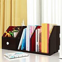 60 * 24 * 24cmCreative Bücherregal einfach auf dem Tisch Bücherregal Regal Modernes einfaches Creative Desktop Incorporated Shelf Combination Grid ( Farbe : Schwarz )