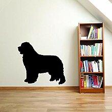 60 CM * 53,6 CM Cartoon Neufundland Hund PVC