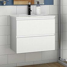 60 cm Waschtisch + Unterschrank Vormontieren Weiss
