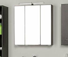 60 cm x 66 cm Spiegelschrank Typhon mit Beleuchtung