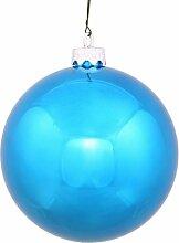 60ct glänzend türkis blau Bruchsichere Christmas Ball Ornaments 6,3cm (60mm)
