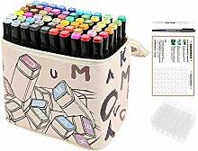 60 Farben Dual Tipps Zwilling Textmarker