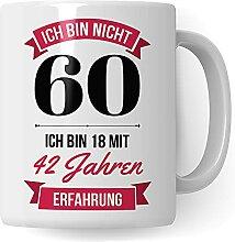 60. Geburtstag Frauen Tasse - Deko Geschenk 60
