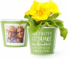 60.Geburtstag Geschenk - Blumentopf (ø16cm) |