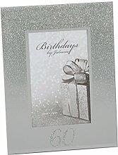 60. Geburtstag Glitter und Spiegel Bilderrahmen