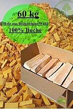 60 kg Brennholz 100% Buche Kaminholz Feuerholz