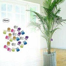 60 PCS Blume Orchidee Clips, Kunststoff Pflanze