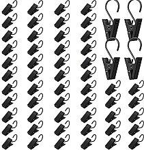 60 Stücke Schwarzer Metall Vorhang Clip String