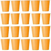 60 x Becher Orange Einwegbecher für Kaltgetränke