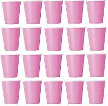 60 x Becher Rosa (Pink) Einwegbecher für