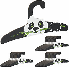 60 x Kinderkleiderbügel, Panda Design,