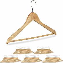 60 x Kleiderbügel, Hosenbügel aus Holz,