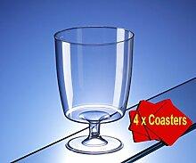 60 x Weinglas aus Kunststoff, 200 ml, Ideal für