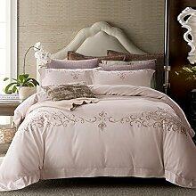 600 gewinde graf luxury hotel quality bettwäsche cover set mit 2 kissen shams 100% extra-langes hefte baumwoll-bettwäsche-kollektion weiß-A King