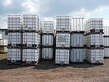 600-Liter-IBC-Container-Tank-Regentonne-Natur-NEU-1B-Gitterbox-und-Palette