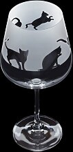 600 ml Gin Glas Aspect Cats Dartington Crystal