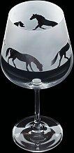600 ml Gin Glas Aspect Horse Dartington Crystal