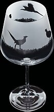 600 ml Gin Glas Aspect Pheasant Dartington Crystal