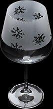 600 ml Gin Glas Aspect Snowflakes Dartington