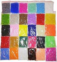 600g Rocailles Perlen 2mm 30 Farben 45000 STK Glas