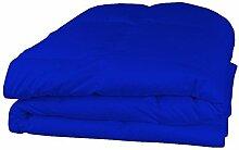 600tc Italienisches Finish 1PC 300gsm Faser Füllen Tröster + 4PC Bettlaken Set Ägyptischer blau Farbe uk-double Größe 100% ägyptische Baumwolle–Durch Paradies Overseas