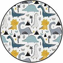 60cm Runde Flächenmatten Cartoon Dinosaurier
