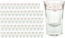60er Set Schnapsglas DUBLINO mit Eichstrich, 2 cl,