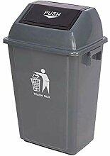 60L-Mülleimer, rechteckige Kunststoff-Mülleimer