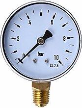60mm Dial 0-10bar NPT