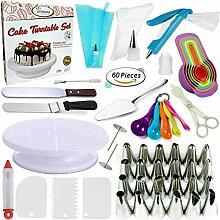 60pcs Kuchen dekorieren Kit Set Backzubehör