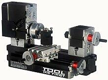 60w 12000rpm High Power Miniatur Metall Drehbank