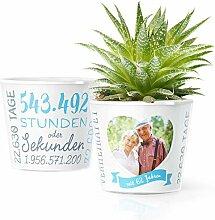 62. Hochzeitstag Geschenk – Blumentopf (ø16cm)