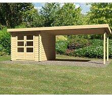 620 cm x 280 cm Gartenhaus Bastrup 4 Woodfeeling