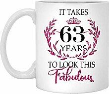 63. Geburtstagsgeschenk Für Frauen-Es Dauert 63