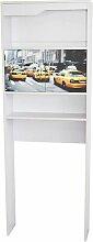63 x 175 cm Toiletten-Regal Craver Rebrilliant